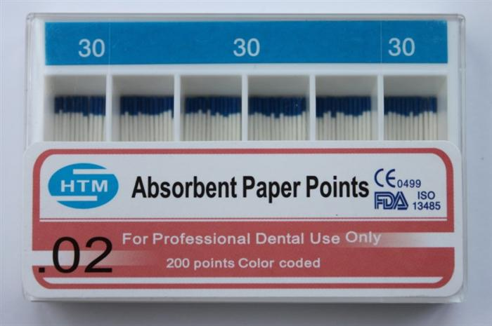 PP-200( 0.02 Taper )Absorbent Paper Points 30#