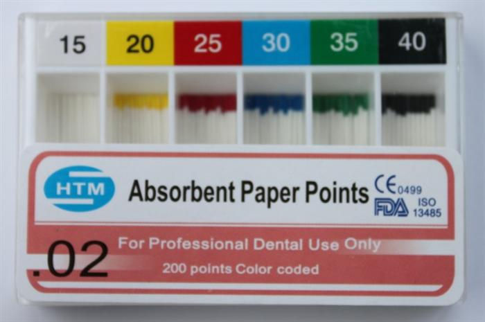 PP-200( 0.02 Taper )Paper Points 15-40#